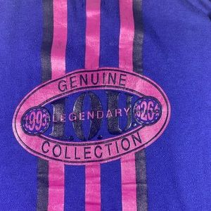 VNTG 90s IOU genuine collection  purple sweater